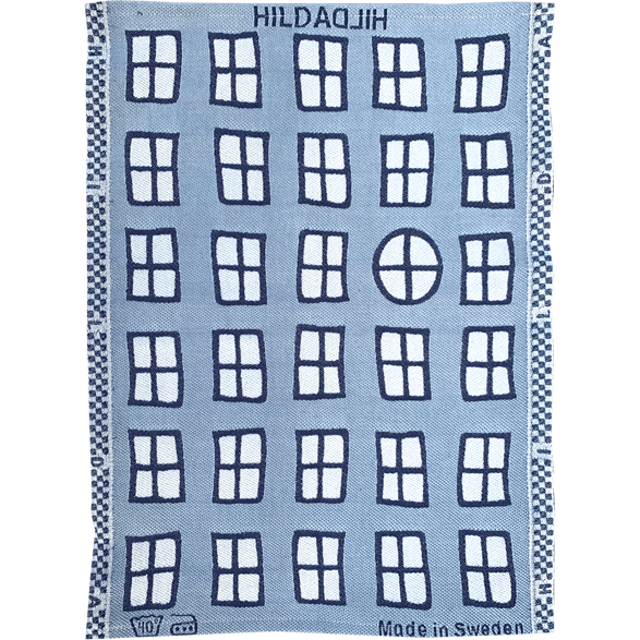 Towel Windows Blue