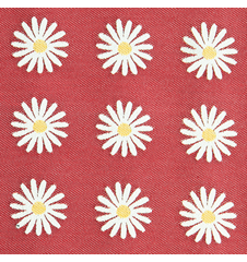 Fabric 145cm Daisy Small Red