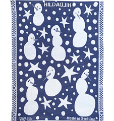 Towel Snowman Blue