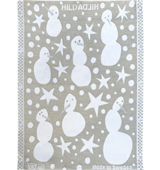Towel Snowman Grey