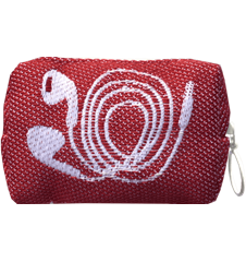Toilet bag 8cm Cords Red