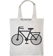 Tote bag Small Bicycle White
