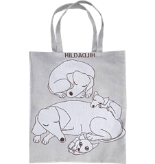 Tote bag Small Dogs Grey
