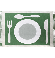 Table mat Plate Green