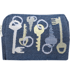 Toilet bag 12cm Keys Blue