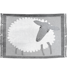 Table mat Sheep White