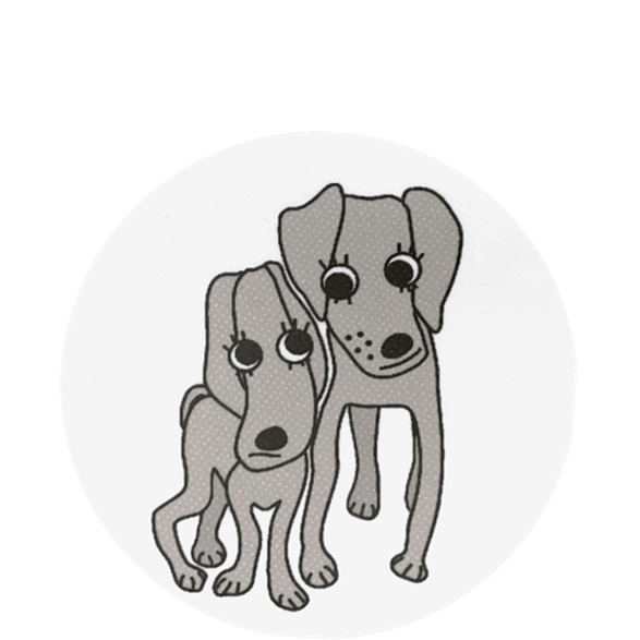 Coaster Dogs Grey