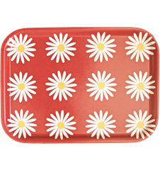 Tray Small Daisy Red