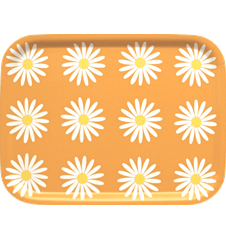 Tray Small Daisy Orange