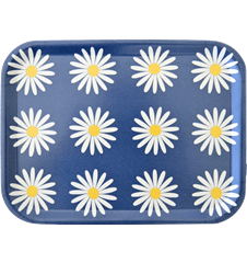 Tray Small Daisy Blue