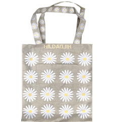Tote bag Large Daisy Light Gray