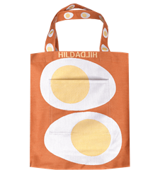 Tote bag Egg Orange