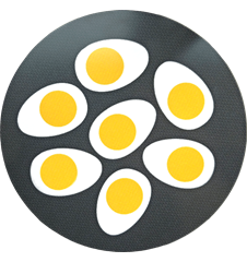 Pot Mat Eggs Dark-Grey