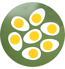 Pot Mat Eggs Green