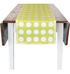 35x150cm (13x59in) Daisy Lime
