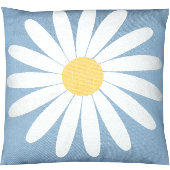 Cushion 45 cm Daisy Light-blue