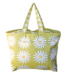 Beach bag Daisy Lime
