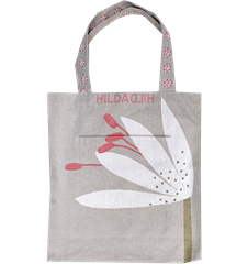 Tote bag Large Lily  Acrylic coated
