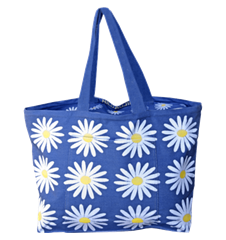 Beach bag Daisy Blue