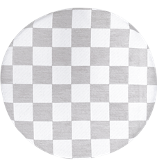 Seat cushion Checkered Light-grey