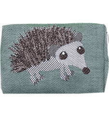 Toilet bag 12cm Hedgehog Green