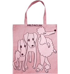Tote bag Small Dogs Pink