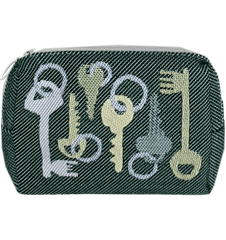 Toilet bag 12cm Keys Green