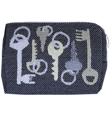 Toilet bag 12cm Keys Grey