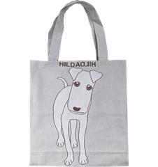 Tote bag Large Dog Grey