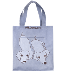 Tote bag Large Dog Blue