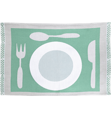 Table mat Plate Turquoise
