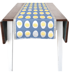 35x150cm (13x59in) Egg Medium Blue