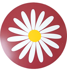 Pot mat Daisy Red