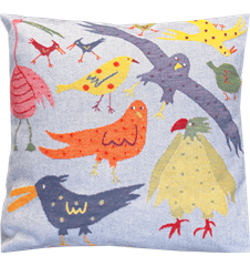 Cushion cover 45x45 Birds