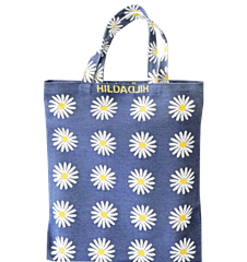 Tote bag Small Daisy Blue