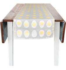 35x150cm (13x59in) Egg Linnen-Grey